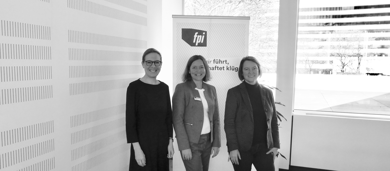 Frauke Hegemann, Kathrin Jannicke und Henrike von Platen Fair Pay Management Circle bei der Allianz in Hamburg